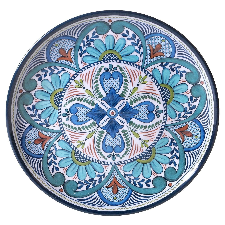 Certified International Talavera 14 Melamine Round Platter, Multicolor 20288