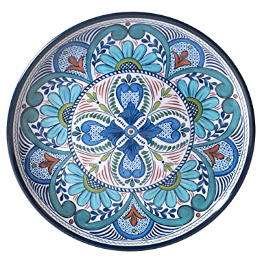 Certified International Talavera 14  Melamine Round Platter, Multicolor