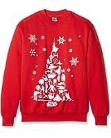 Plastic Head Men's Star Wars Christmas Tree CSW Banded Collar Long Sleeve Sweatshirt