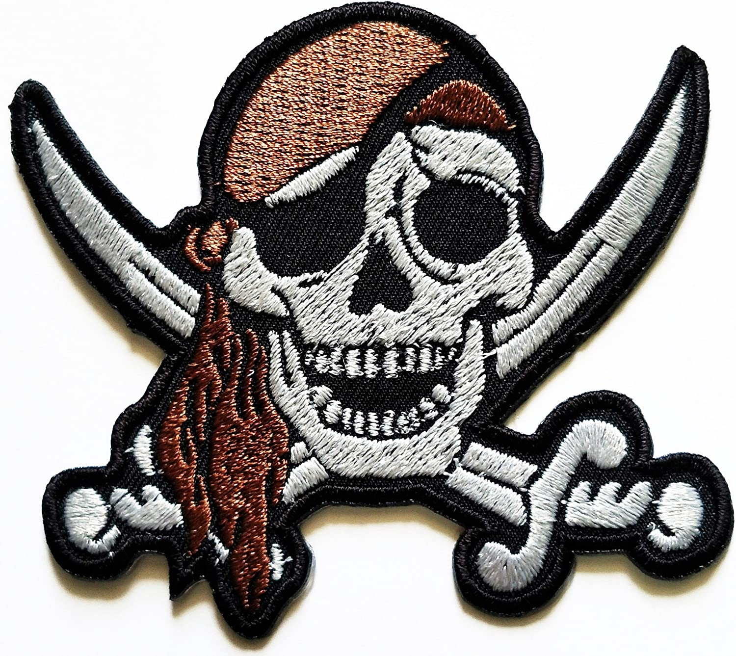 Pirate Skull and Swords collection Iron Sew on Embroidered Patch