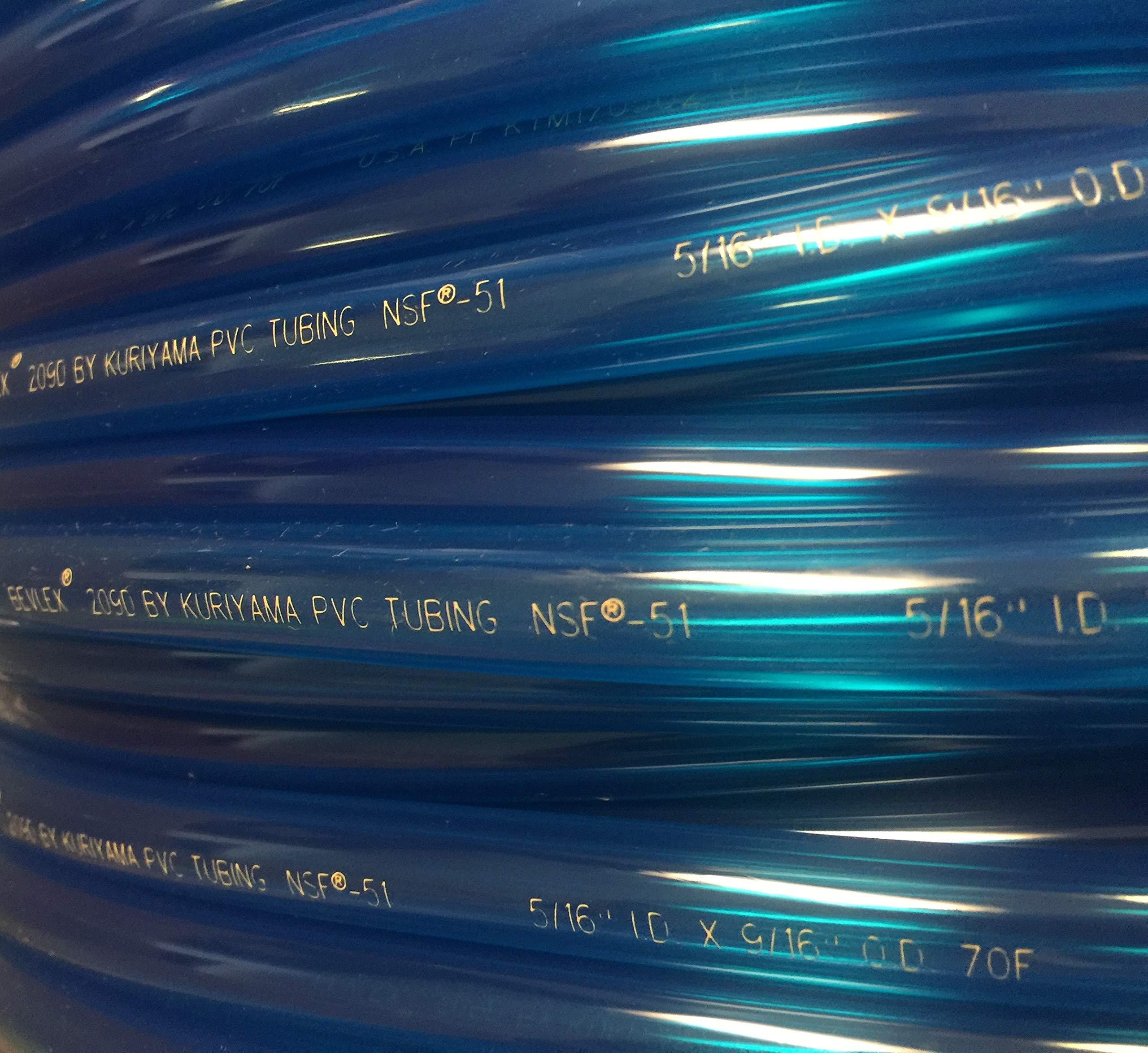25ft Bevlex 209D Translucent Blue Tubing