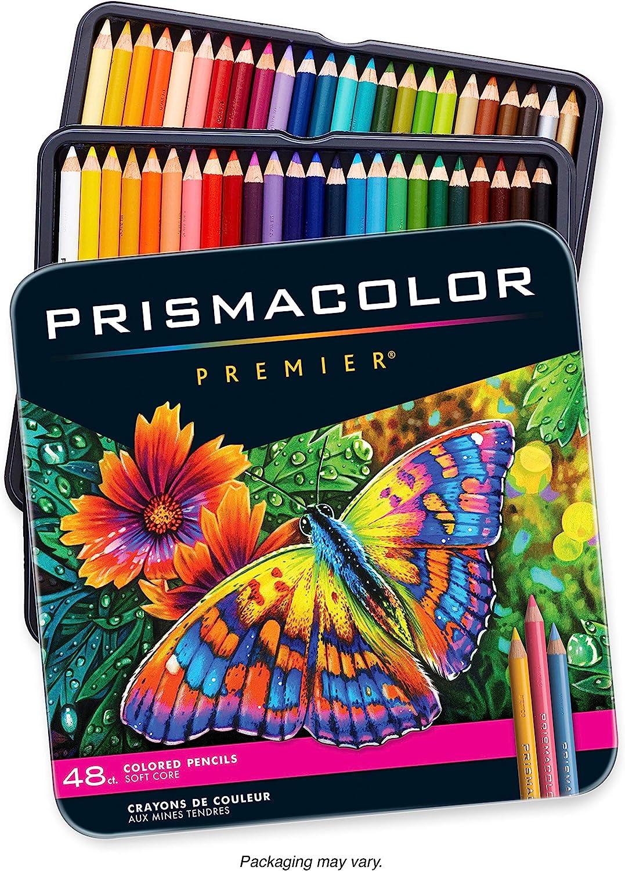 Prismacolor Premier Soft Core 48 Colored Pencil Set Prismacolour Tin