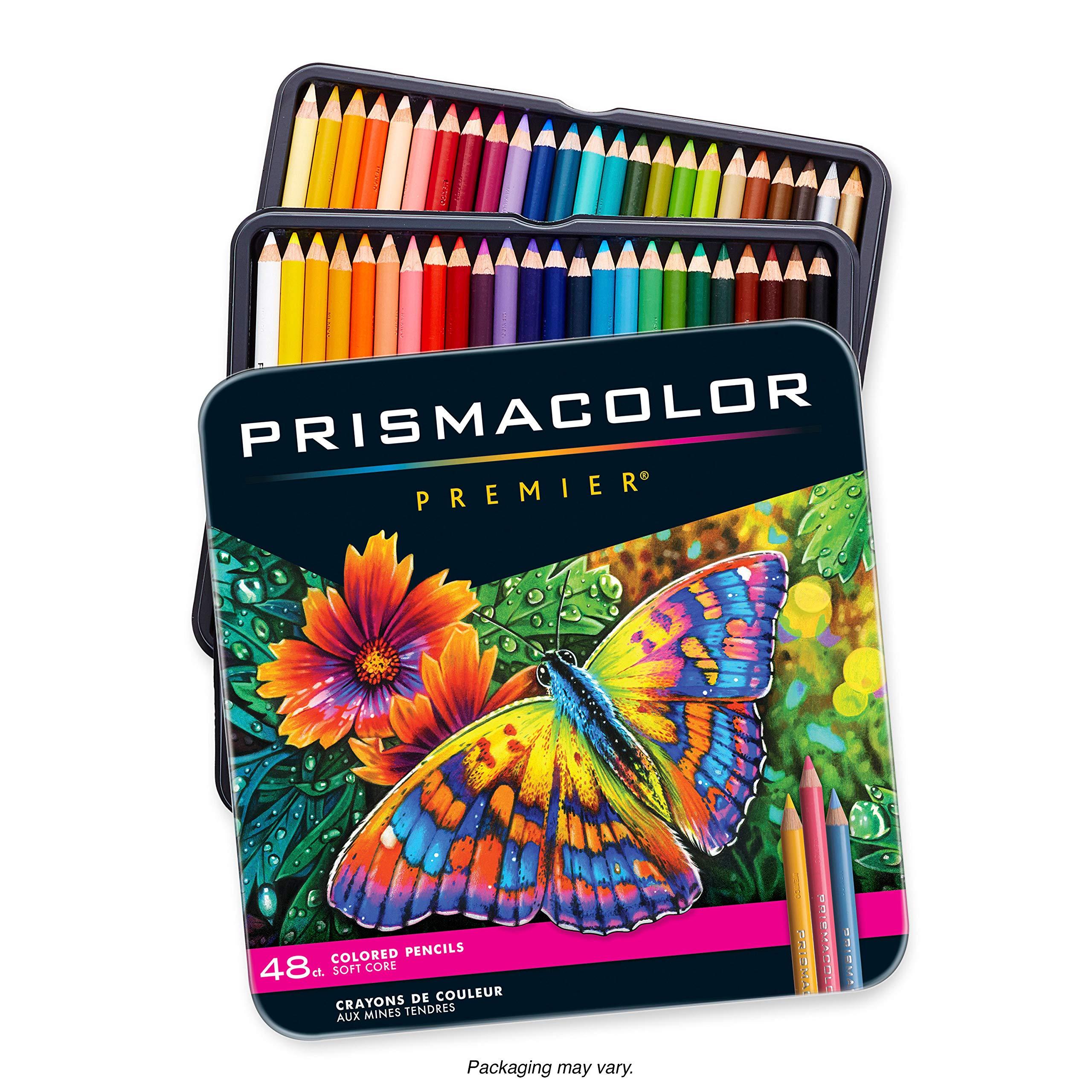 Prismacolor Premier Colored Pencils | Art Supplies for Drawing, Sketching, Adult Coloring | Soft Core Color Pencils, 48 Pack