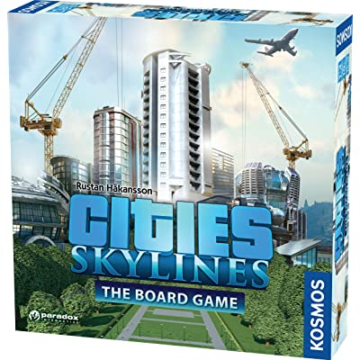 Cities: Skylines - Cooperative City-Building Board Game from Kosmos | Based On The Hit Video Game | for 1-4 Players Ages 10+ | Develop & Manage Cities & Neighborhoods: Toys & Games