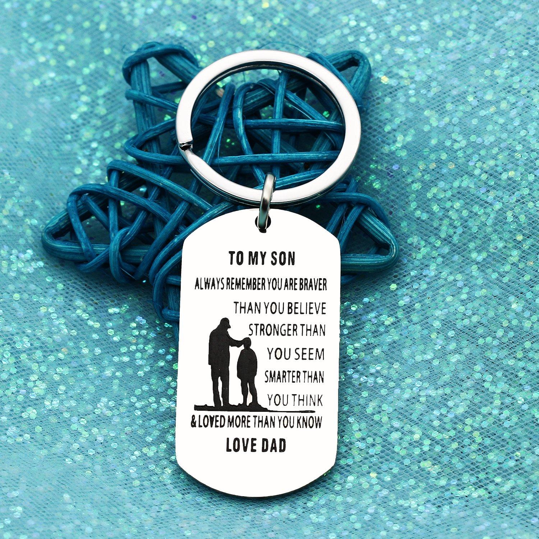 Birthday Gift Present For Son Children Inspirational Jewelry Keyring Keychain Key Rings Graduation Anniversary