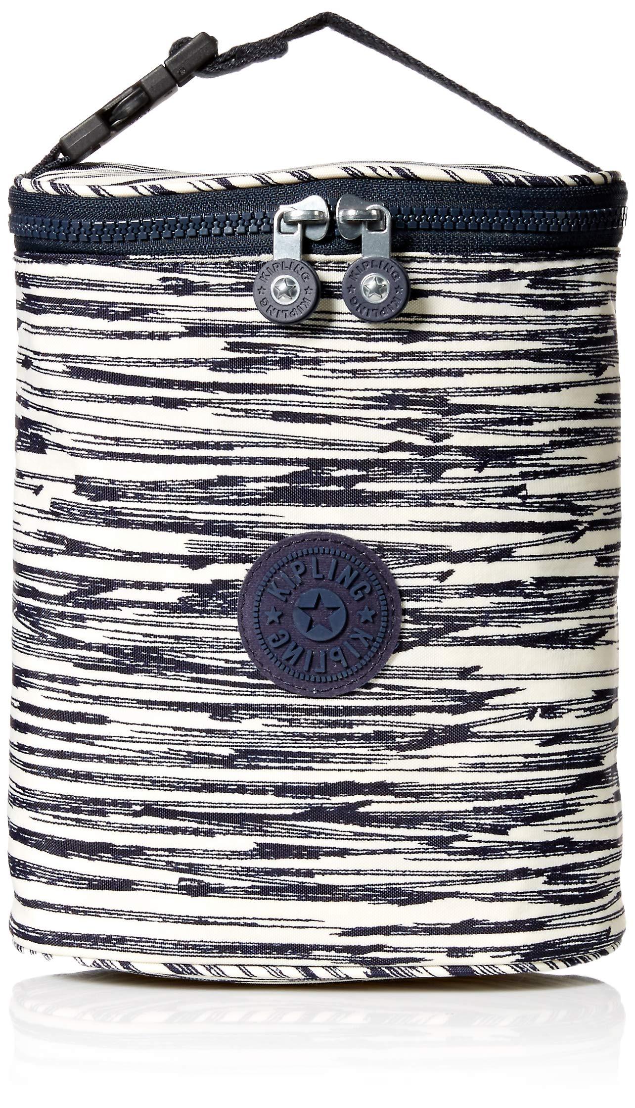 Kipling Women's Insulated Baby Bottle Holder, Clip On Strap, Black, scribble lines blue by Kipling