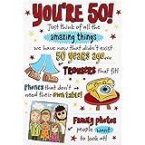 "Hallmark 50th Birthday Card""Amazing Things"" - Medium"