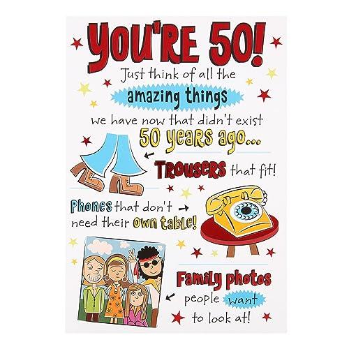 Hallmark 50th Birthday CardAmazing Things