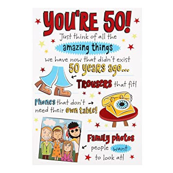Hallmark 50th Birthday CardquotAmazing Thingsquot