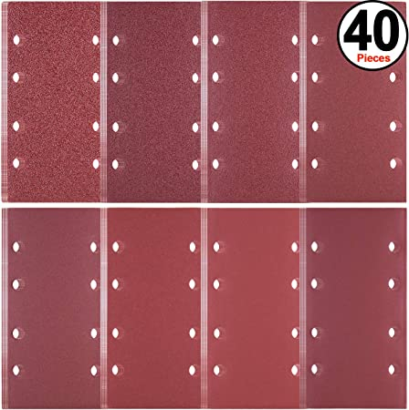 BOSCH Schleifblatt-Set Best for Wood,8 Löcher,10-teilig,93 x 185 mm,400