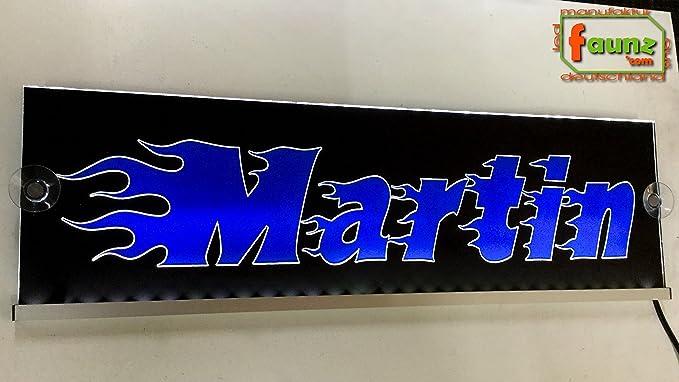 Martin Azul LED Camiones Truck Cartel grande en Negro o su ...