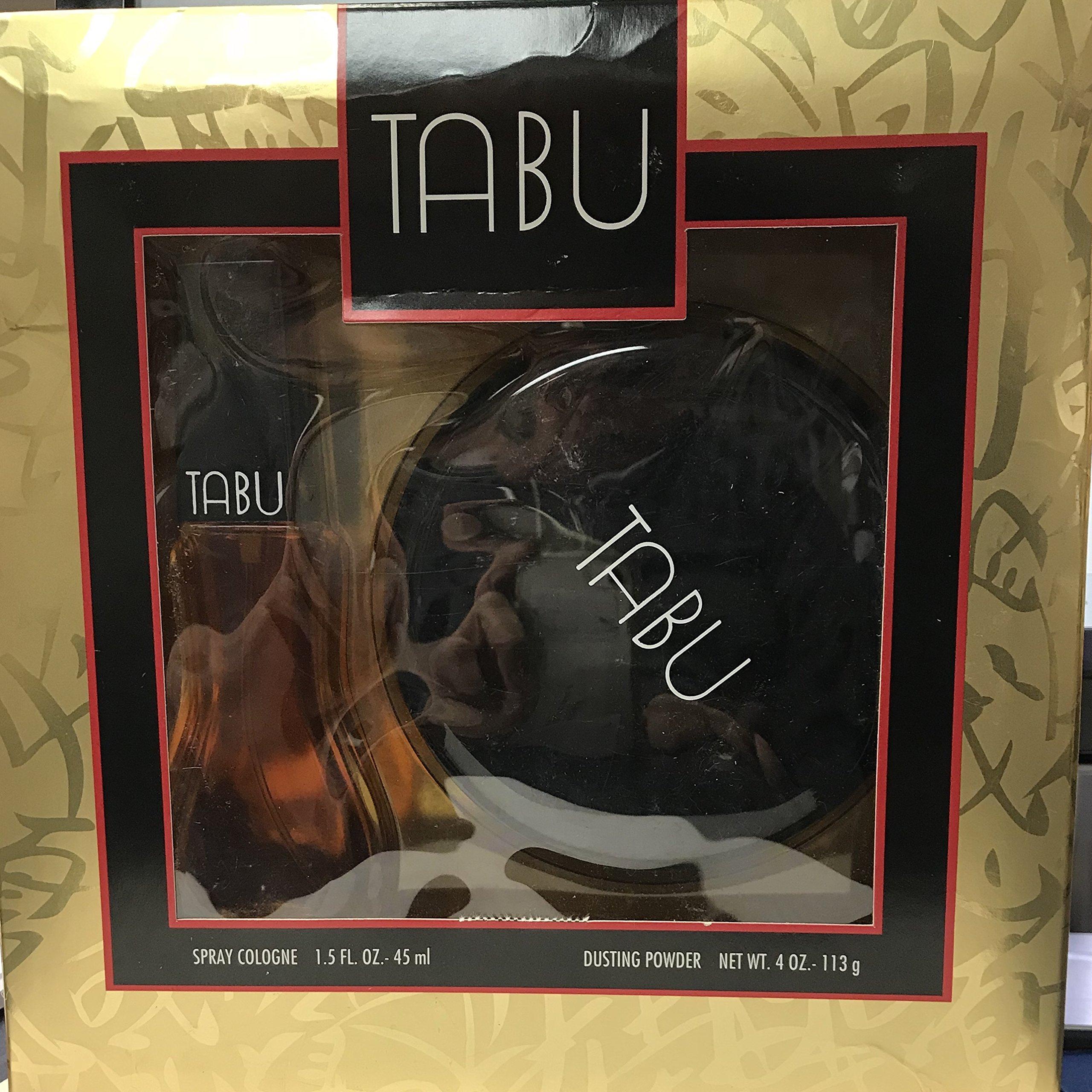 Tabu Spray Cologne 1.5 fl oz 45 ml / Dusting Powder 4 oz , 113 g set
