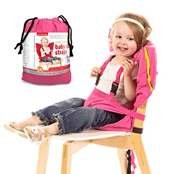 Heavenu0027s Bliss Baby Portable High Chair Booster Harness (Pink)  sc 1 st  Amazon.com & Amazon.com : Heavenu0027s Bliss Baby Portable High Chair Booster Harness ...