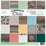 """Teacher Created Resources Farmhouse Chic Scrapbook Project Paper Pad 12""""x 12"""" (TCR5581)"""