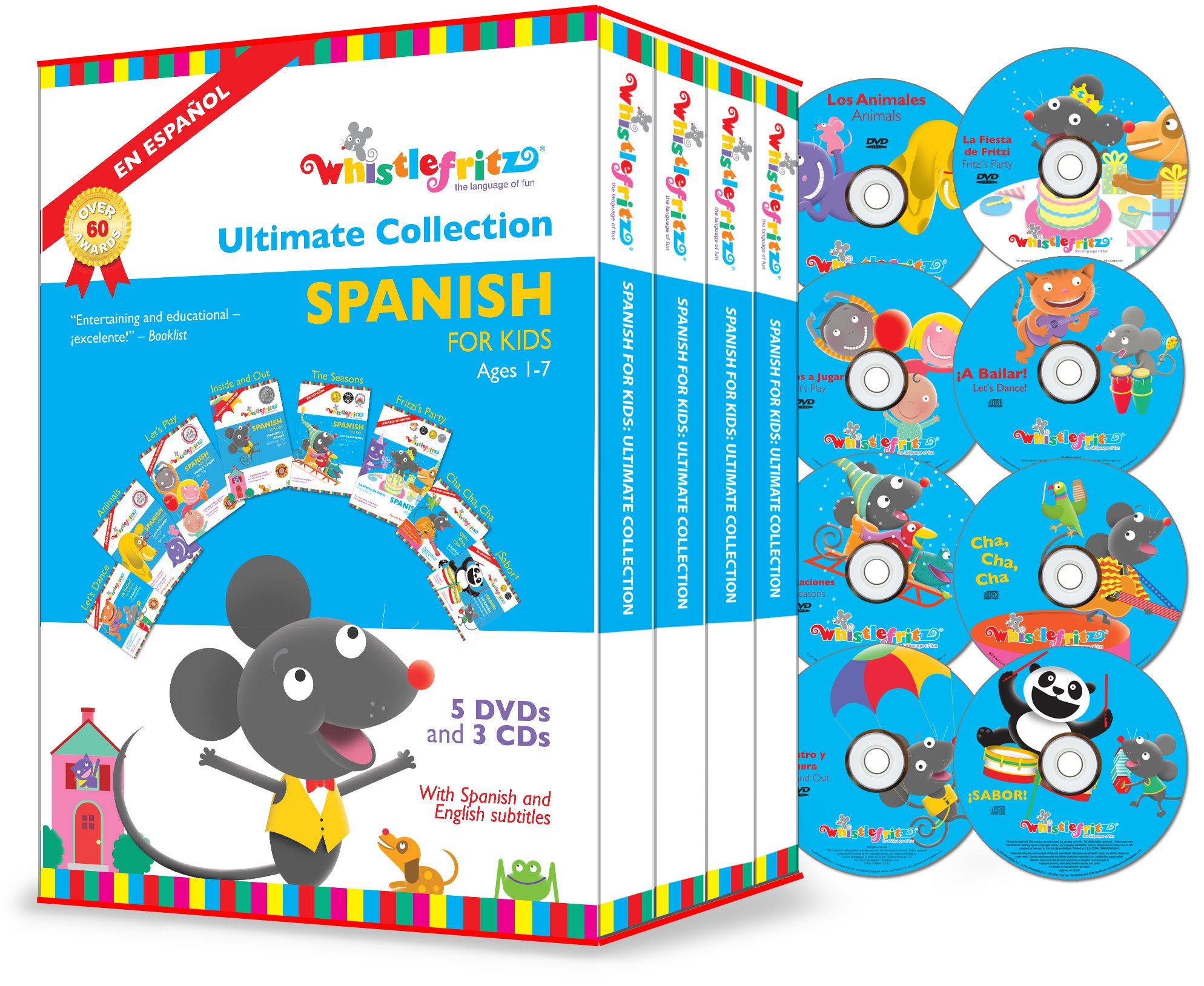 Spanish for Kids: The Ultimate Collection (5 DVDs, 3 CDs) by Whistlefritz