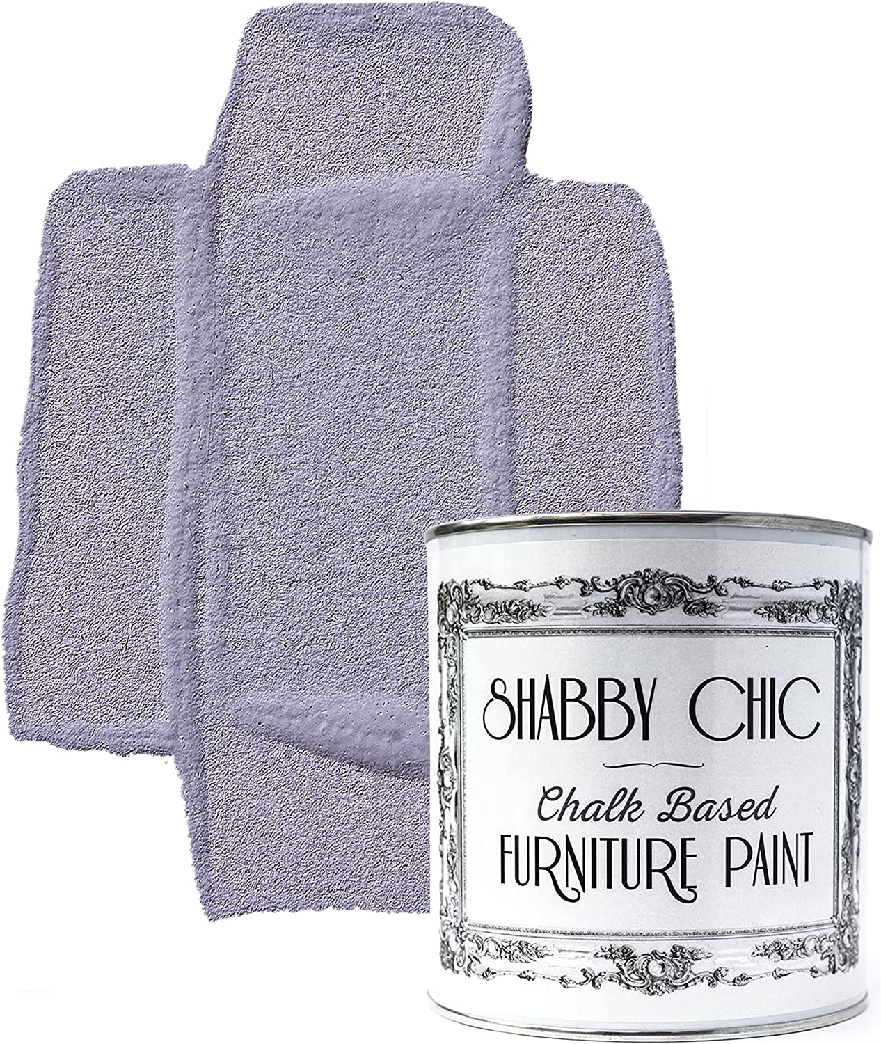Shabby Chic Chalked Furniture Paint: Luxurious Chalk Finish Furniture and Craft Paint for Home Decor, DIY Projects, Wood Furniture - Interior Paints with Rustic Matte Finish - Liter - Scottish Heather