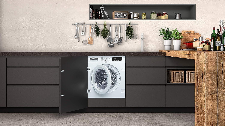 NEFF W118X118 Einbau-Waschmaschine Frontlader / A+++ / 118 kWh/Jahr / 14118118  UpM / 18 kg / weiß / Anti-Flecken-Programme