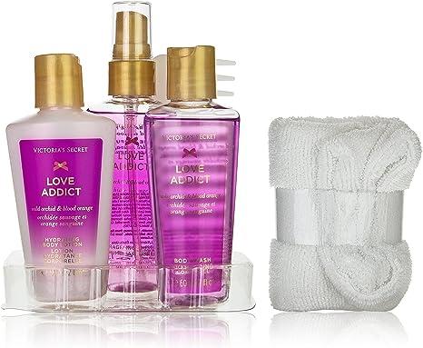 Victorias secret - Victoria´s secret love addict b/mist 60 ml + s/g 60 ml + b/l 60 ml + toalla+ peine+neceser set: Amazon.es: Belleza