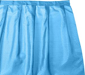 Carnation Home Fashions Lauren Dobby Fabric Sink Skirt, 56-Inch by 32-Inch, Light Blue