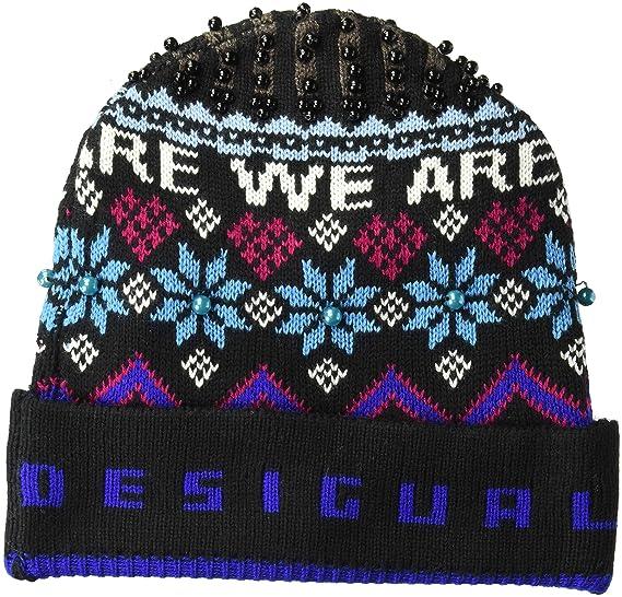 best supplier cheap for sale great deals 2017 Desigual Bonnet Femme Hat Winter Bleu 18wahf01