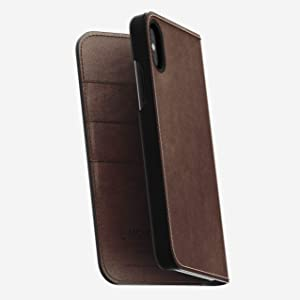 Nomad Folio for iPhone X/XS | Rustic Brown Horween Leather
