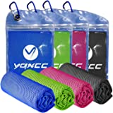 """YQXCC 4 Pack Cooling Towel (47""""x12"""") Ice Towel for Neck, Microfiber Cool Towel, Soft Breathable Chilly Towel for Yoga, Golf,"""