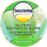 Leocrema - Multiuso Idratante Aloe Vera, Crema Corpo, Viso e Mani, Idrata e Rinfresca , 150 ml