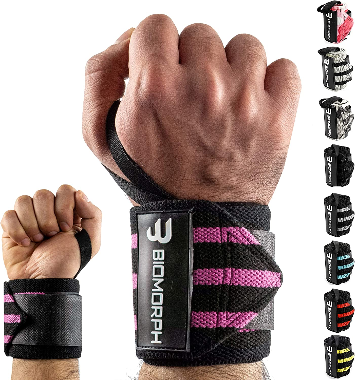 54cm f/ür Fitness Biomorph Profi Handgelenk Bandagen Bodybuilding Wrist Wrap Kraftsport /& Crossfit I Handgelenkbandage flexibel einstellbar I Wrist Wraps f/ür Frauen /& M/änner