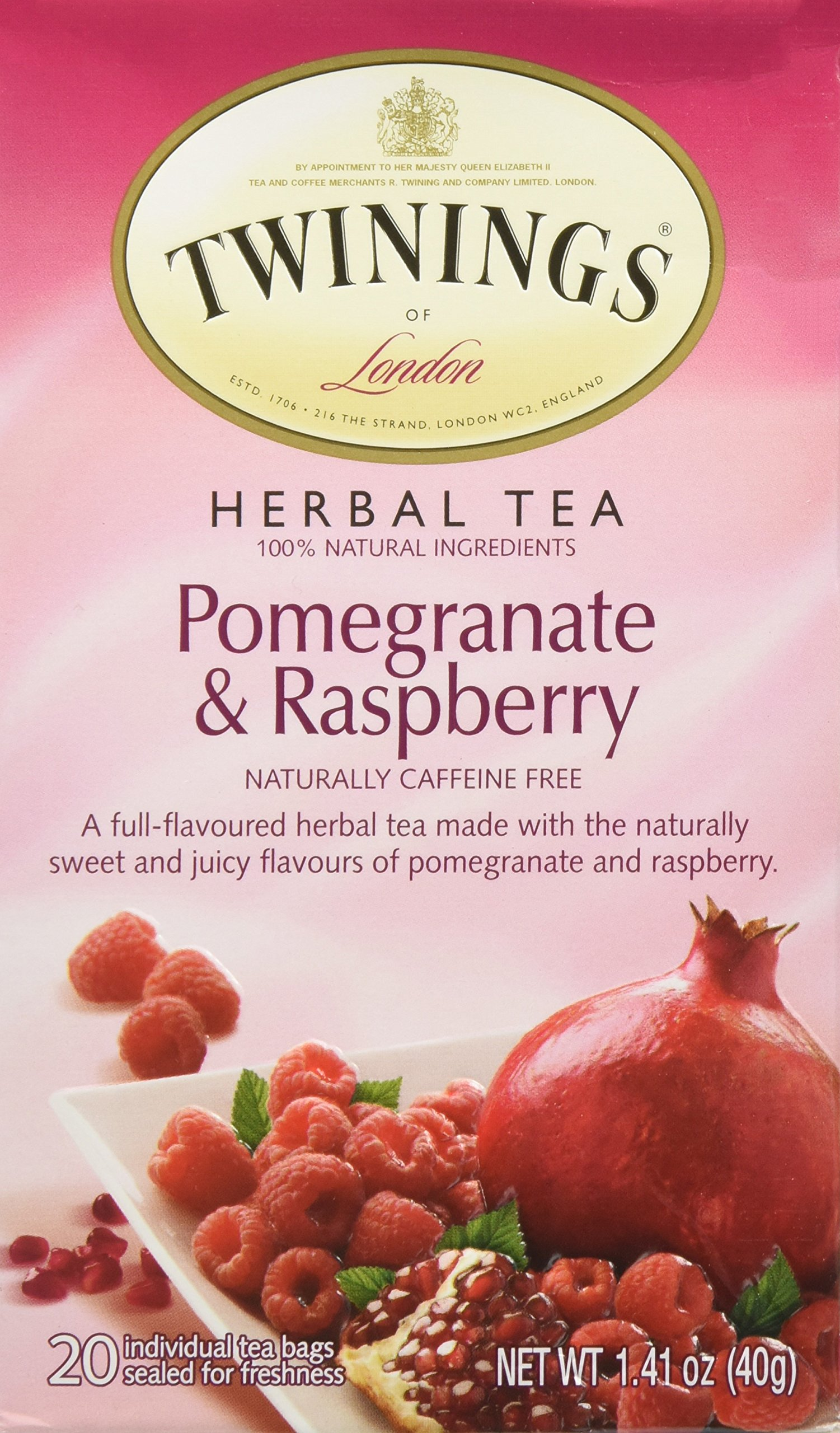 Twinings Pomegranate & Raspberry Tea, 20 ct