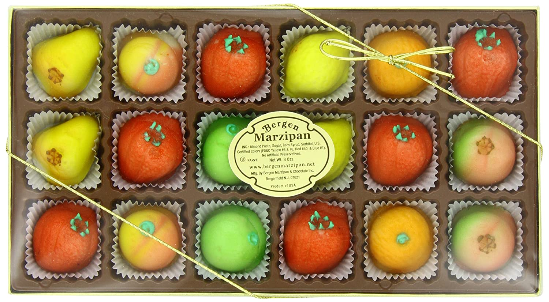 Bergen Marzipan M-1 Assorted Fruit, 8 Ounce: Grocery & Gourmet Food