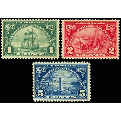 1924 Huguenot-Walloons Set of Three Stamps - Mint Never Hinged Scott 614-616: Everything Else