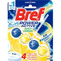 Bref Power Active Toilet Bowl Cleaner, Juicy Lemon, 50g