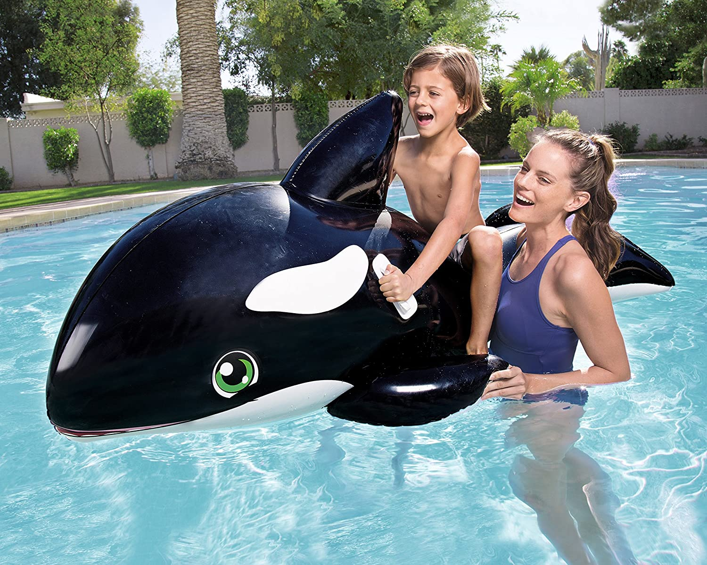 Bestway 8321687 - Flotador Orca Grande 203x102cm: Bestway 80 x 40-inches Jumbo Whale Rider: Amazon.es: Juguetes y juegos