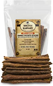 Sweet Potato Dog Treats - Crunchy Grain Free Cinnamon Apple Sticks, Promotes Positive Gut Health with Natural Anti-Diarrhea Properties (Cinnamon & Apple, 8 oz)