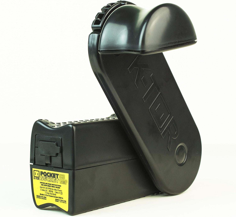 Image of K-Tor Pocket Socket 2 handcrank flashlight in black color.