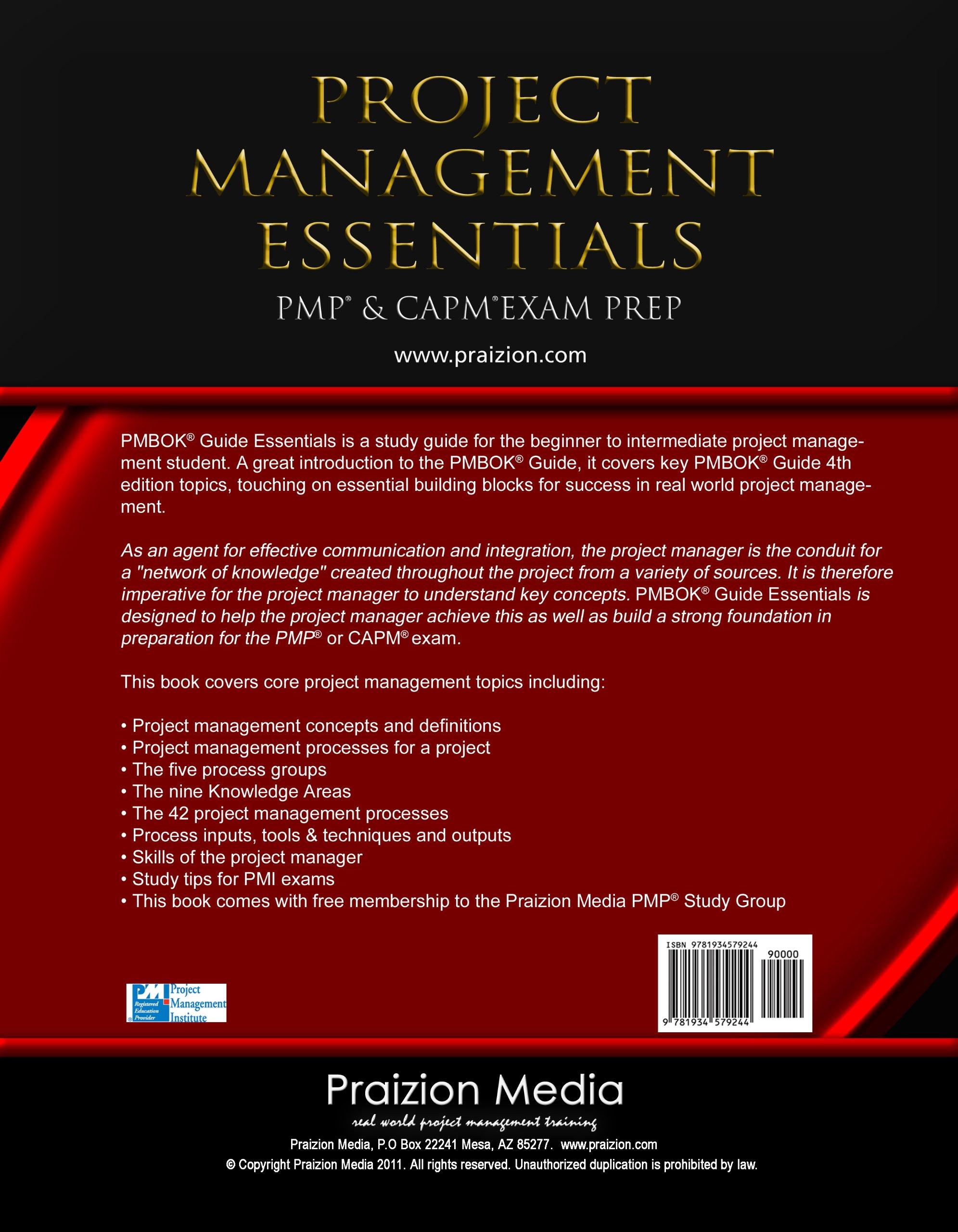 Project management essentials pmp capm exam study guide 4th project management essentials pmp capm exam study guide 4th edition praizion media 9781934579244 amazon books 1betcityfo Choice Image
