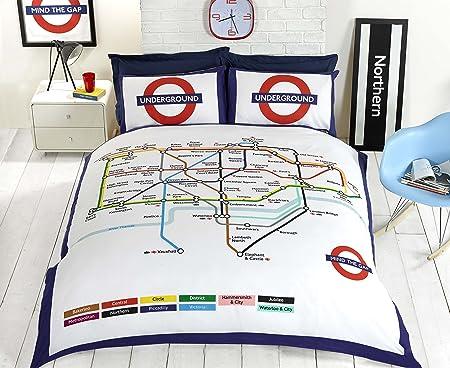 Copripiumino Londra Singolo.Underground Copripiumino Singolo Con Mappa Della Metropolitana Di