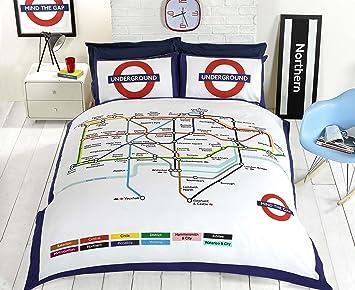 Funda Nordica Underground.Underground Homespace Direct De Londres Metro Tubo Funda De Edredon
