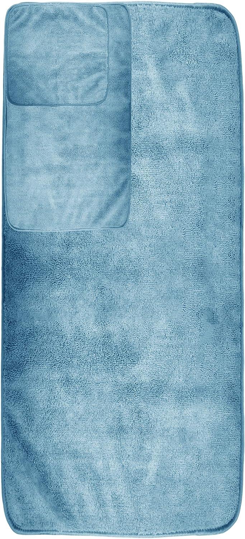 Pack de 6 Secado r/ápido Juego de Toallas de ba/ño de Microfibra Felpa y antipelusa Beige Polyte