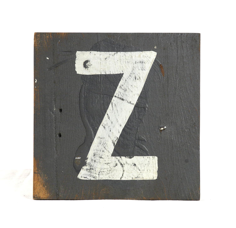 zentique Buchstabe aus Holz - klein - Monogramm Z
