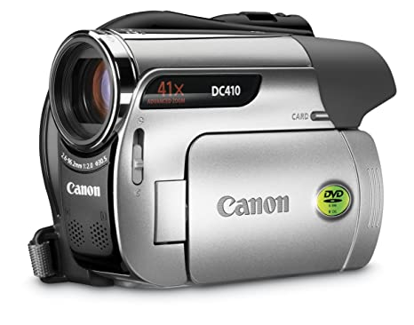 amazon com canon dc410 dvd camcorder with 41x optical zoom dvd rh amazon com Canon DC210 Charger Canon Camcorders