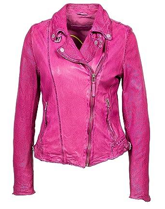Verarbeitung finden einzigartiges Design Größe 7 Freaky Nation Las Vegas Damen Lederjacke Bikerjacke Pink ...