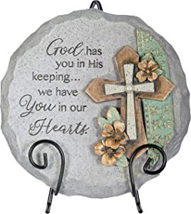 The Bridge Collection 'in Our Hearts' Resin Memorial Garden Stone with Easel