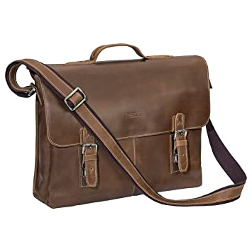 b64f4bb864806 PEDEA Vintage Ledertasche Laptoptasche  quot San Benito quot  für Männer  Frauen Businesstasche zum Umhängen 15