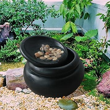 Peaktop Fuente de agua para jardín | Característica de la cascada de la maceta del jardín al aire libre FI0031AA-EU: Amazon.es: Jardín