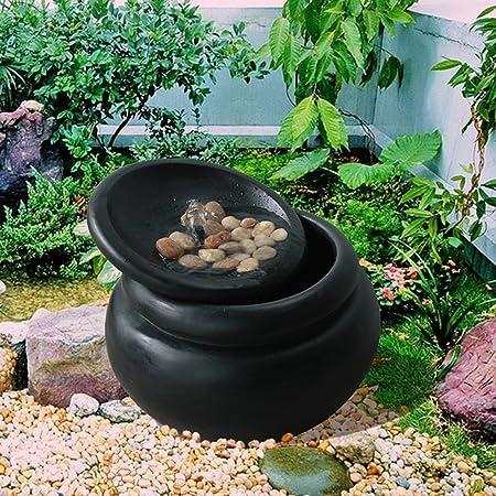 Peaktop Fuente De Agua De 3 Niveles En Cascasa Para Jardín O Patio FI0031AA-EU: Amazon.es: Jardín