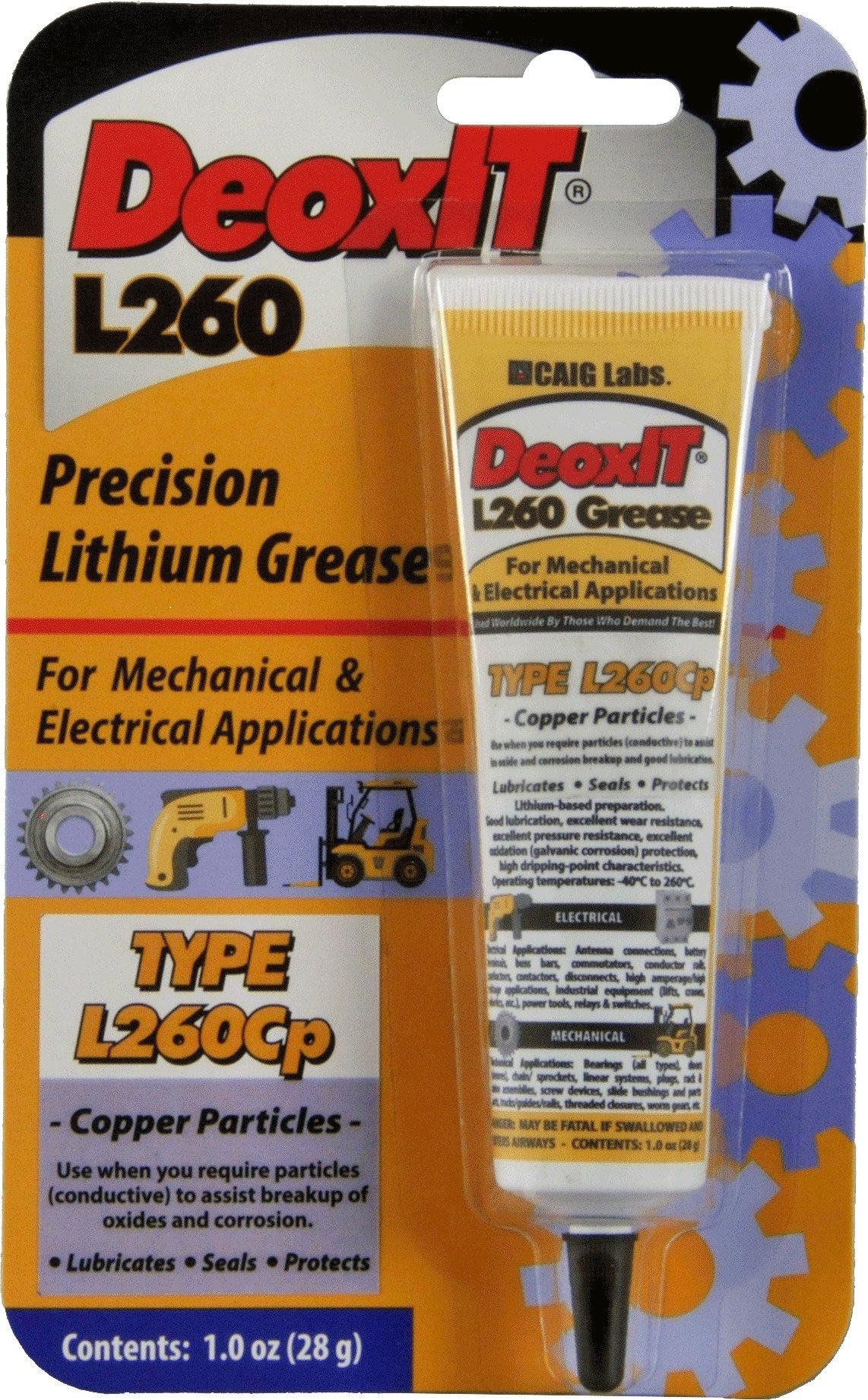 DeoxIT L260 Grease L260Cp, Tube copper particles 28 g - L260-C1 by CAIG Laboratories (Image #1)