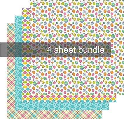 amazon com easter pattern heat transfer vinyl pattern htv sheets