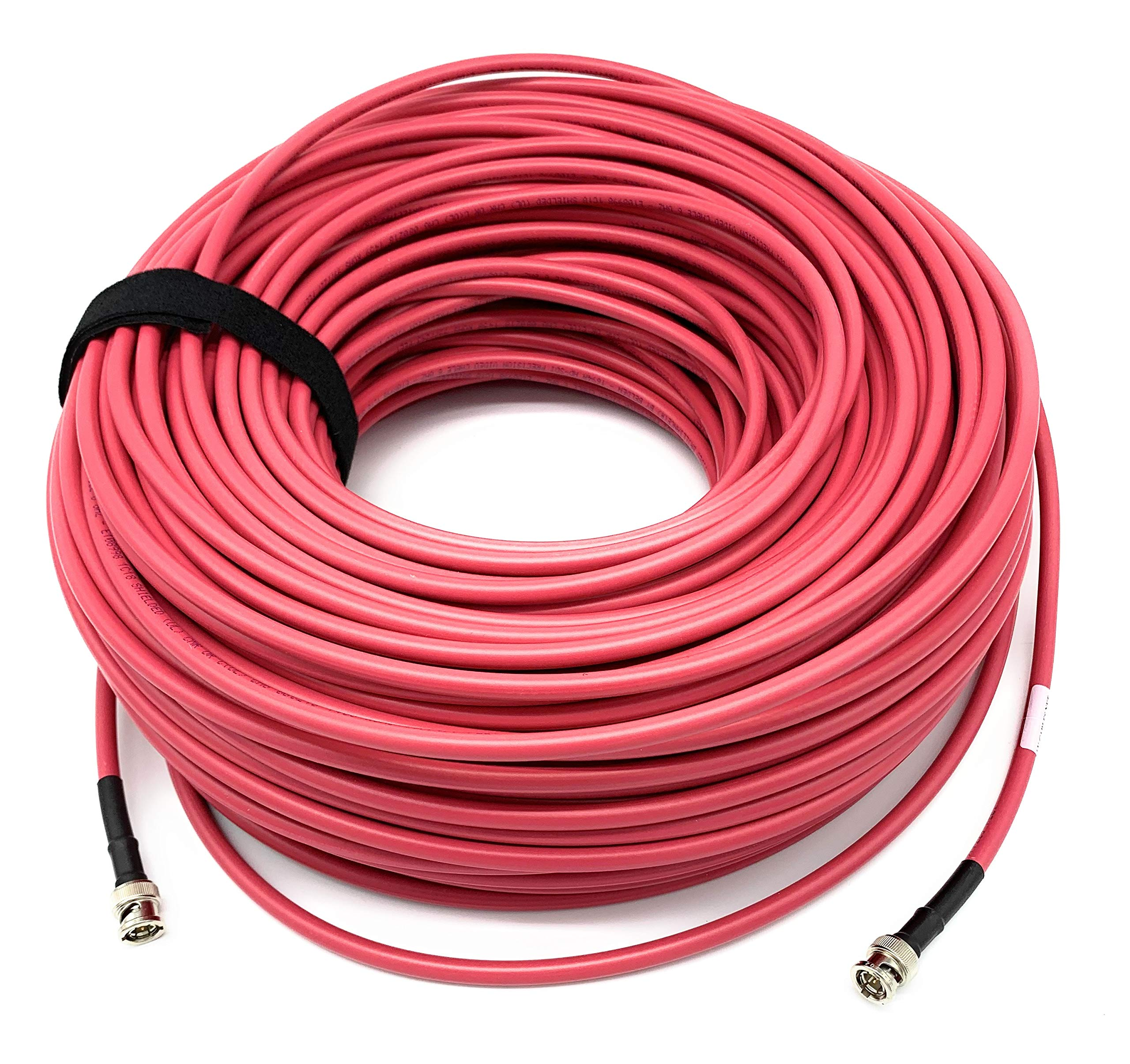 AV-Cables 3G/6G HD SDI BNC Cable- Belden 1694a RG6 - Red (200ft)