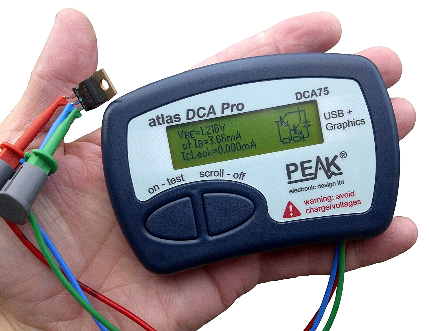 New Peak Atlas DCA55 Semiconductor Component Analyzer Tester DCA 55 Free Ship
